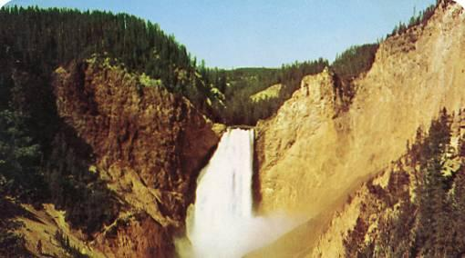 WY - Yellowstone National Park, Great Falls in Yellowstone Canyon
