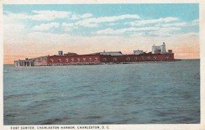 CHARLESTON, South Carolina, 1910-1930s; Fort Sumter, Charleston Harbor