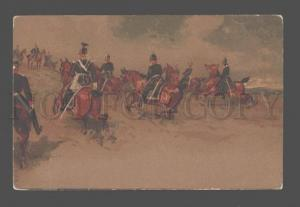 081123 GERMAN Soldiers on HORSES by LUDCOS Vintage LITHO PC