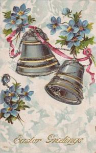 Glitter detail, Easter Greetings, Ringing bells, Forget-me-nots, 00-10s