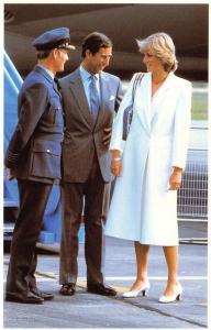 Postcard Royal Wedding 1981, Charles Diana, Dyce Airport, Aberdeen 15 Aug 81 #47