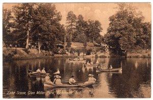 Richmond, Ind, Lake Scene, Glen Miller Park