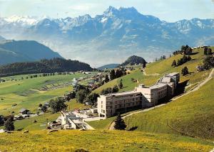 Switzerland Leysin L'Hotel Reine Fabiola et les Dents du Midi Mountain Panorama
