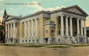 c1910 Postcard Immanuel Baptist Church, Salt Lake City UT Unposted