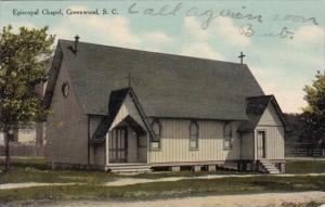 Episcopal Chapel Greenwood South Carolina 1910 Curteich