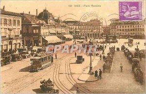 Postcard Old Nice Place Massena Tramway