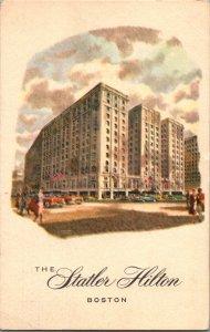 c1950 The Statler Hilton Hotel Boston Massachusetts Post Card P2