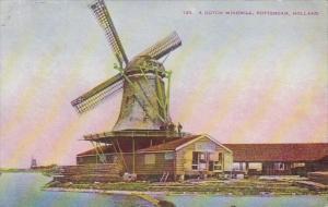 Netherlands Rotterdam Typical Dutch Windmill