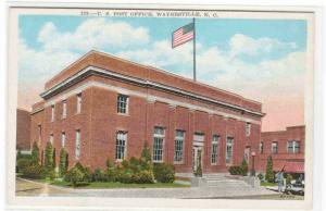 Post Office Waynesville North Carolina 1920c postcard