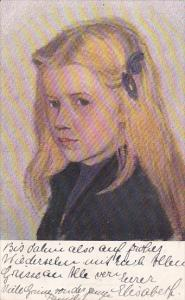 Portrait of blond girl, PU-1912