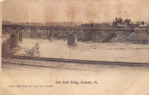 Rochester Pennsylvania~Over Grade Bridge~Railroad Tracks in Foreground~1912 Pc