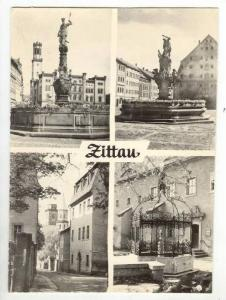 RP  Zittau, Germany 1940-50s  4-view postcard