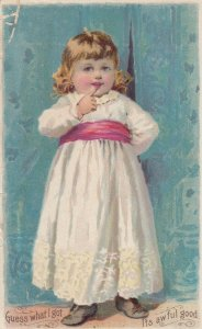 TC: Little girl has Knapp's Rootbeer, 1893; The Knapp Co. Lith, New York