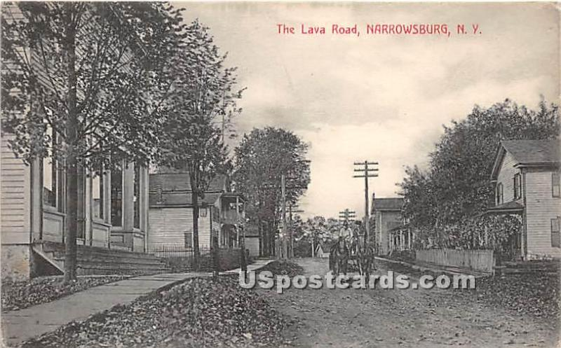 The Lava Road Narrowsburg NY 1911