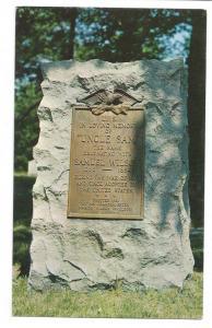 Troy NY Uncle Sam Grave Oakwood Cemetery New York Postcard