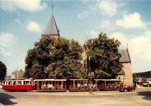 Belgium Han sur Lesse Depart du Tram vers la Grotte Eglise