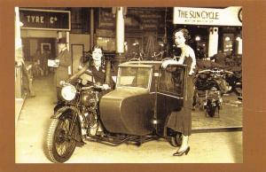 Nostalgia Postcard The Motorcycle Show, Olympia, London 1930 Repro Card NS3