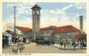 Union Depot, Portland, OR, Oregon, USA Train Railroad Station Depot Post Card...