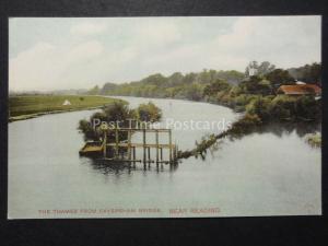 Berkshire THE THAMES FROM CAVERSHAM BRIDGE near Reading Old Postcard by Hartmann