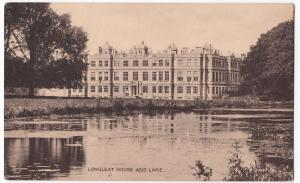 Wiltshire; Longleat House & Lake PPC Unposted, Valentines Sepiatype Series
