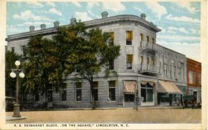 NC - Lincolnton. R.S. Reinhardt Block On the Square