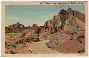 Bad Lands, So. Dak., Vampire Valley, Cedar Pass