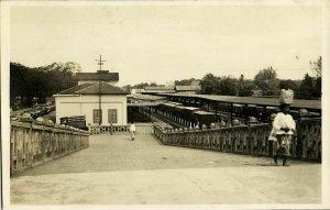 indonesia, SUMATRA MEDAN, Railway Station (1920s) RPPC Postcard