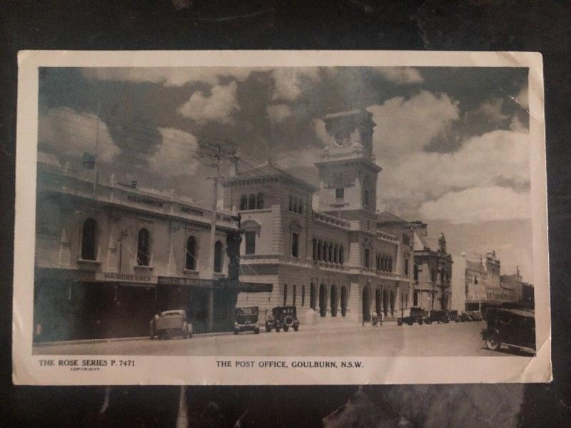 Mint Australia RPPC Real Picture Postcard NSW Goulburn Post Office