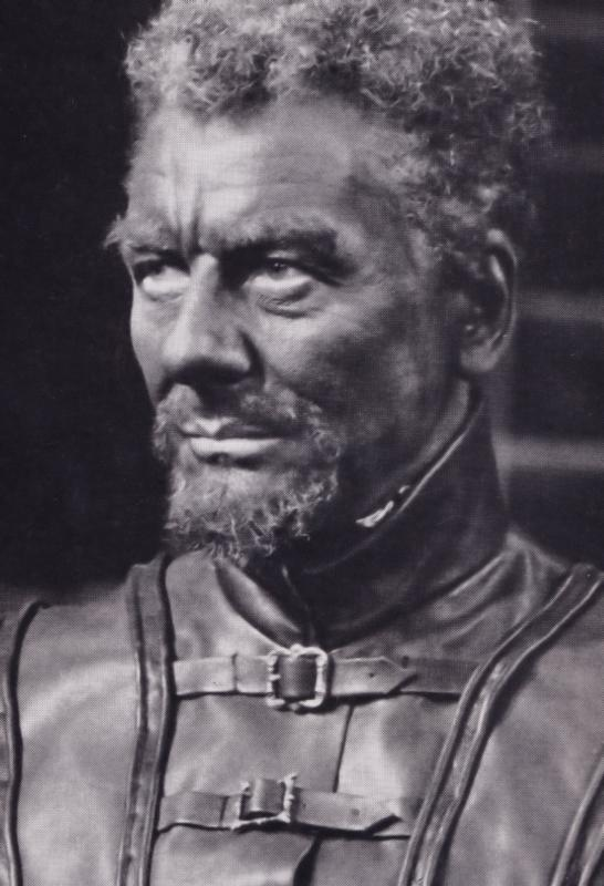 John Gielgud as Othello Rare Shakespeare Theatre Company Postcard