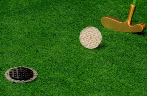 Golf Club Sports Golfing Putting Course Toy Lego Model Postcard