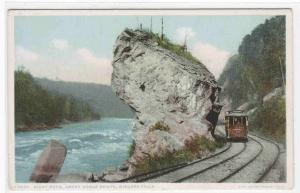 Streetcar Giant Rock Great Gorge Route Niagara Falls NY Phostint postcard