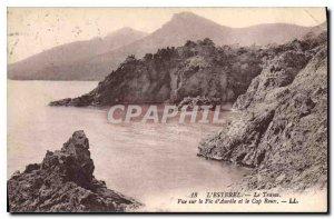 Old Postcard L'Esterel Le Trayas View Aurelle Pic and Cap Roux