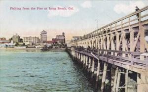 Fishing From The Pier At Long Beach, California, 1900-1910s
