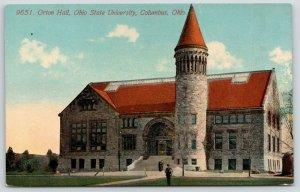 Columbus Ohio State University~Sunroof on Orton Hall~Stone Tower~1907 Acmegraph
