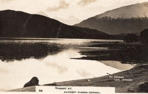 Mount Aspiring Lake Wanaka New Zealand Real Photo Postcard