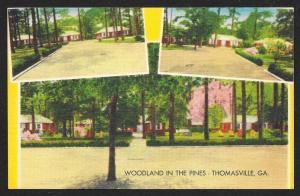 Woodland in the Pines Motor Court Thomasville Georgia Unused c1950s