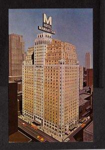 NY New York City Hotel Manhattan Playbill Restaurant NYC New York City Postcard