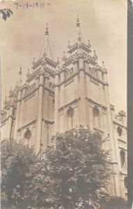 F29/ Delta Colorado RPPC Postcard 1911 Tabernacle Salt Lake City Utah