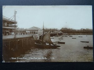 Essex CLACTON ON SEA View from the Pier c1913 RP Postcard