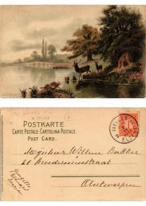 CPA Frohen Herzen frohe Stunden Meissner & Buch Litho Serie 1263 (730436)