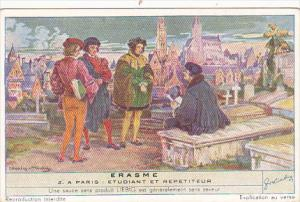 Liebig Trade Card s1491 Erasmus No 2 Paris Etudiant et Repetiteur