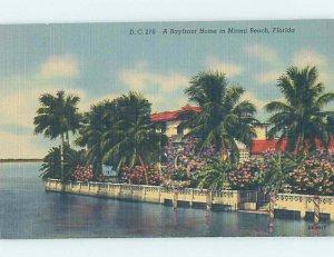 Pre-Chrome HOUSE SCENE Miami Beach Florida FL AH5907