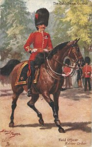 Hary Payne.The Black Wath.Field Officer Review Order Tuck Oilette PC # 9994