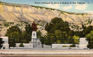 North Dakota Badlands Medora Marquis De Mores Statue