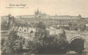 Czech Republic Gruss aus Prag Karlsbrücke 02.63