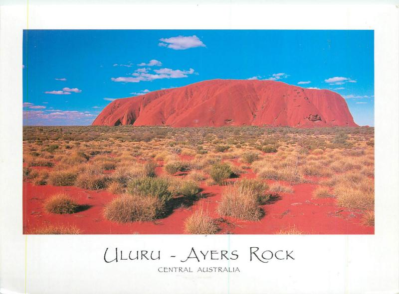 Central Australia Uluru Ayers Rock butterfly stamp