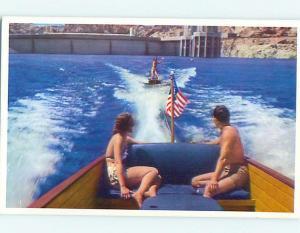 Unused Pre-1980 BOAT & WAKE BOARDING ON LAKE MEAD Las Vegas Nevada NV r9496