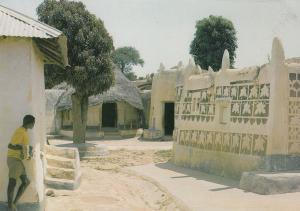 Hausa Compound Nigeria Mosque Nigerian Postcard