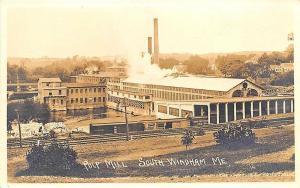 South Windham Me Pulp Mill Railroad Train Tracks RPPC Postcard