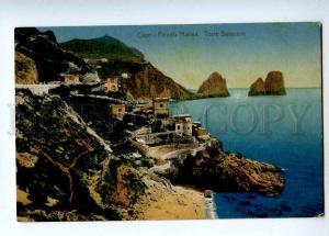 190850 ITALY CAPRI Piccola Marina Vintage RPPC 1912 year